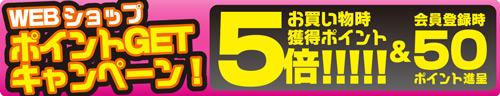 webショップ ポイントGETキャンペーン!