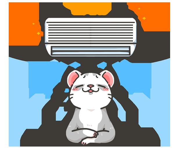 24時間エアコン完備